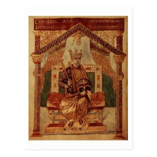 Lat 1152 f.3v Charlemagne (Carolus Magnus, Charles Postcard