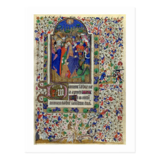 Lat 1156 f.133 The Kiss of Judas, from the Hours o Postcard