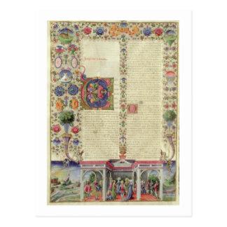 Lat 422 VolI fol.280v The Beginning of the Book of Postcard