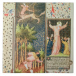 Lat 9471 f.16r November, from the Grandes Heures d Ceramic Tile