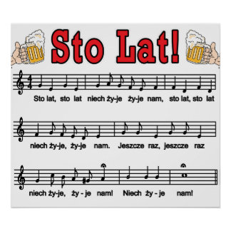 ¡Lat de Sto! Canción con las tazas de cerveza Posters
