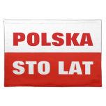 Lat polaco Polska de Sto del color del placemat el Mantel Individual