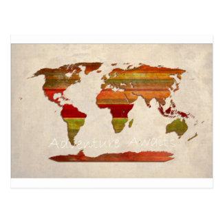 Lat Stripes Map Postcard