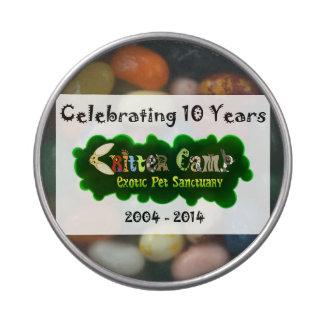 Lata 5 del aniversario del campo del Critter 10ma Latas De Caramelos