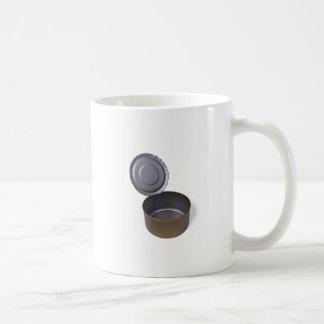 lata, abierto y vacío tazas de café