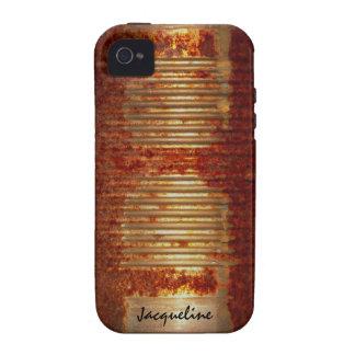 Lata aherrumbrada del Grunge Vibe iPhone 4 Funda