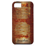 Lata aherrumbrada del Grunge iPhone 5 Case-Mate Carcasas