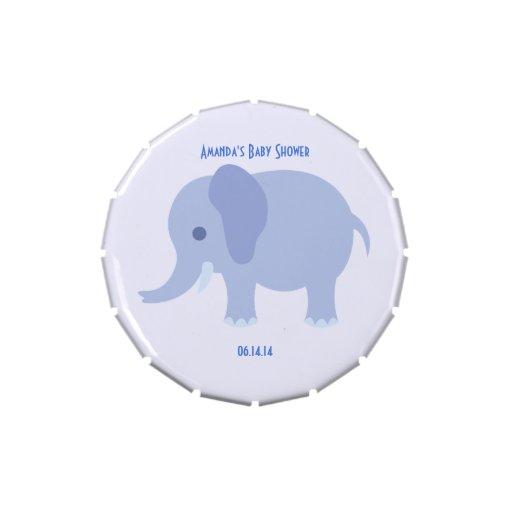 Lata azul del caramelo del elefante latas de caramelos