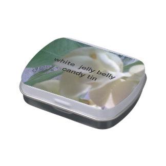 lata blanca del caramelo del vientre de la jalea frascos de dulces