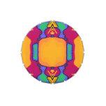Lata colorida de la broche del recorte del arte latas de dulces