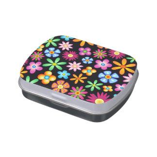Lata colorida del caramelo del diseño del Naif de Latas De Caramelos