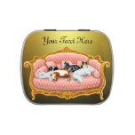 Lata cómoda adaptable del caramelo de los gatos de jarrones de dulces