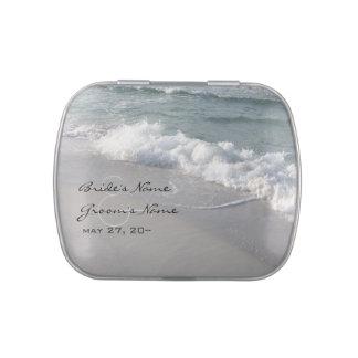 Lata de Belly™ de la jalea del boda de playa Jarrones De Dulces