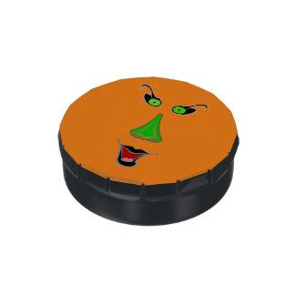 Lata de la haba de jalea de la bruja - favores latas de caramelos