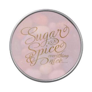 Lata del azúcar y de la especia frascos de dulces