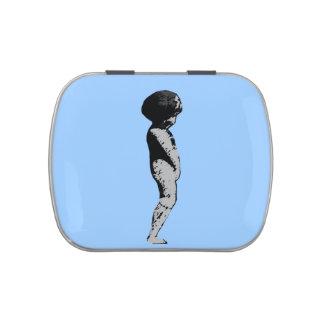 Lata del Belly de la jalea del arte pop de la Jarrones De Caramelos