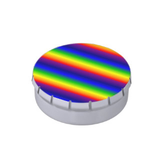 Lata del caramelo - arco iris prismático frascos de dulces