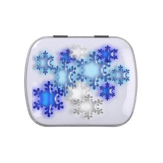 Lata del caramelo - copos de nieve 3D Latas De Caramelos