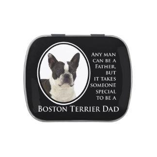 Lata del caramelo de Boston Terrier Latas De Dulces