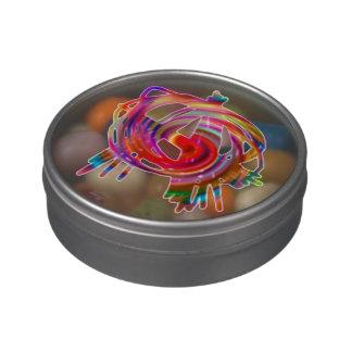 lata del caramelo de la anarquía del arco iris latas de caramelos