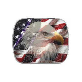 Lata del caramelo de la bandera de American Eagle Frascos De Caramelos