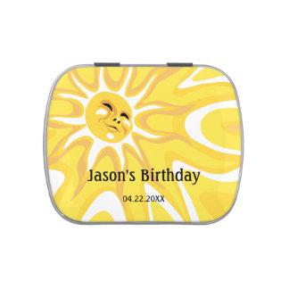 Lata del caramelo de la celebración del cumpleaños latas de dulces