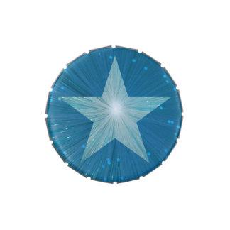 Lata del caramelo de la estrella azul latas de caramelos