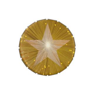 Lata del caramelo de la estrella del oro latas de caramelos