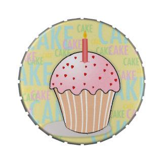 """""""Lata del caramelo de la magdalena del cumpleaños"""" Latas De Dulces"""