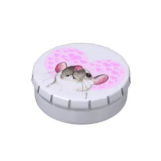 lata del caramelo de la rata del amor latas de caramelos