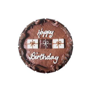 Lata del caramelo de la torta de cumpleaños del ch jarrones de caramelos