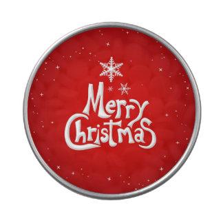 Lata del caramelo de las Felices Navidad Frascos De Dulces