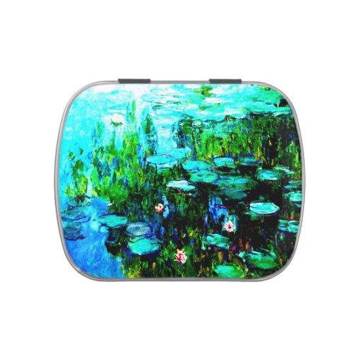 Lata del caramelo de Lillies Monet del agua de Nym