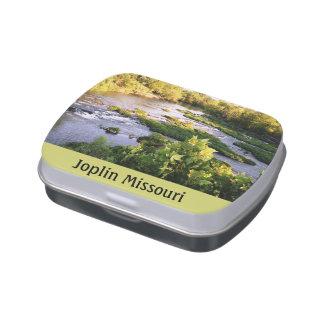 Lata del caramelo de Shoal Creek Joplin Missouri Frascos De Caramelos