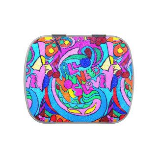lata del caramelo del amor del hippie-estilo frascos de caramelos