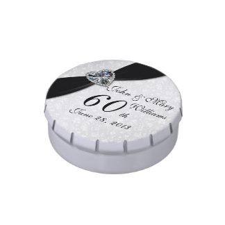 Lata del caramelo del aniversario de boda del frascos de dulces
