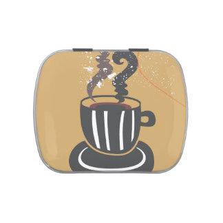 Lata del caramelo del Belly de la jalea del café Latas De Dulces