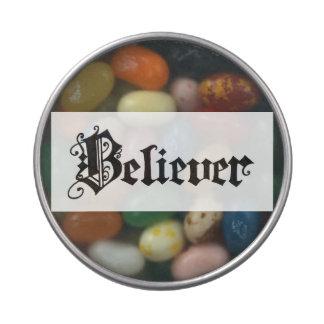 """Lata del caramelo del """"creyente"""" jarrones de dulces"""