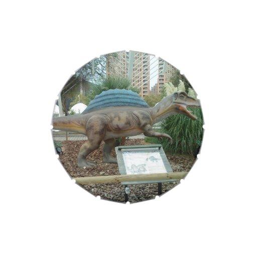 Lata del caramelo del dinosaurio de Spinosaurus Jarrones De Dulces