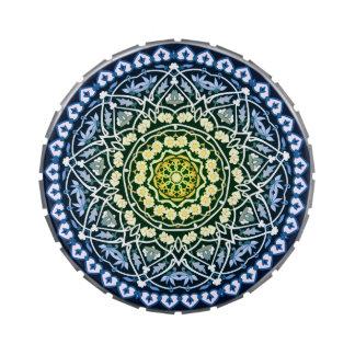 Lata del caramelo del diseño de la estrella de Alh Jarrones De Caramelos