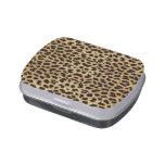 Lata del caramelo del estampado leopardo latas de dulces