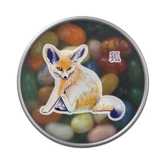 """""""Lata del caramelo del Fox de Fennec"""" Jarrones De Caramelos"""