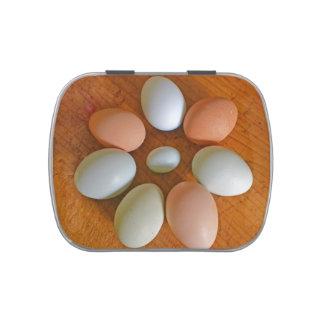 Lata del caramelo del huevo de Pascua Jarrones De Dulces