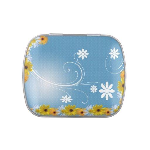lata del caramelo del marco de las flores jarrones de dulces