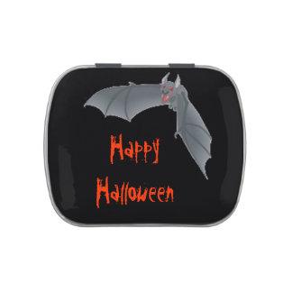 Lata del caramelo del palo del feliz Halloween Frascos De Dulces