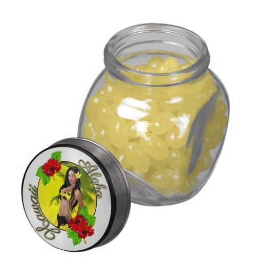 Lata del caramelo del Pin-Para arriba de Hawaii de Frascos De Cristal Jelly Belly