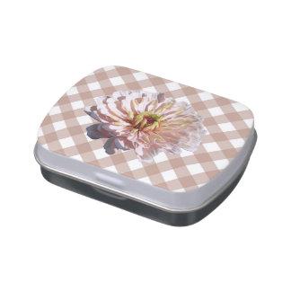 Lata del caramelo - el Zinnia rosado más pálido en Frascos De Dulces
