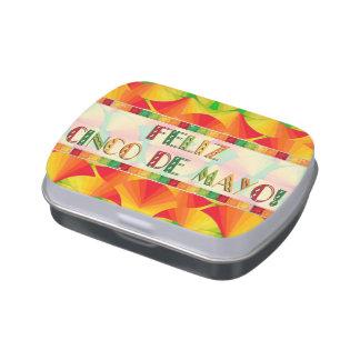Lata del caramelo - fruta cítrica aviva - Feliz Jarrones De Dulces