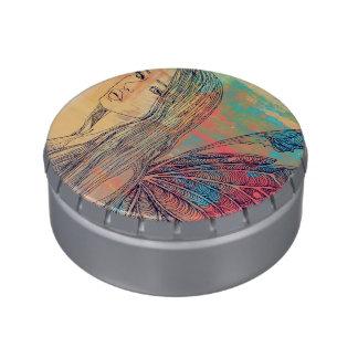 Lata del caramelo T1 - pequeña hada del arco iris  Jarrones De Dulces
