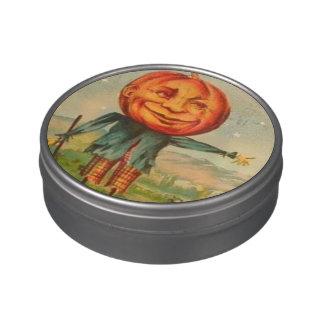 Lata del día de fiesta del Peekaboo de Halloween Latas De Caramelos